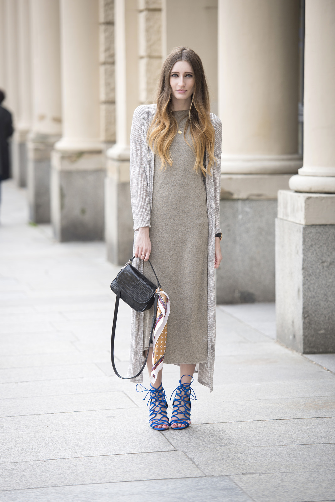Maxi Dress & Long Cardigan - The L Fashion