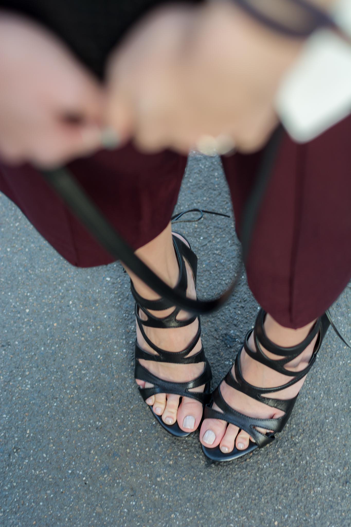 Burgundy Culottes   Poi Lei Shoes   Lavish Alice Cape Blaze   Lisa Fiege
