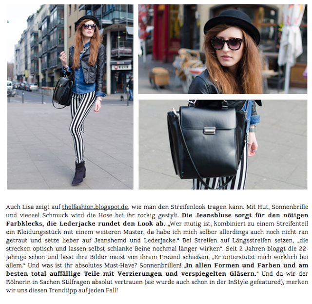 Publications | MyBestBrands Magazine | May 2013 | The L Fashion | Lisa Fiege