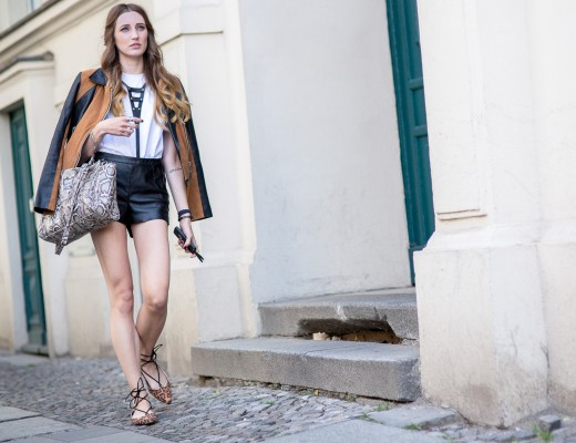 Leather & Leopard Streetstyle   Lisa Fiege   Cologne/Köln
