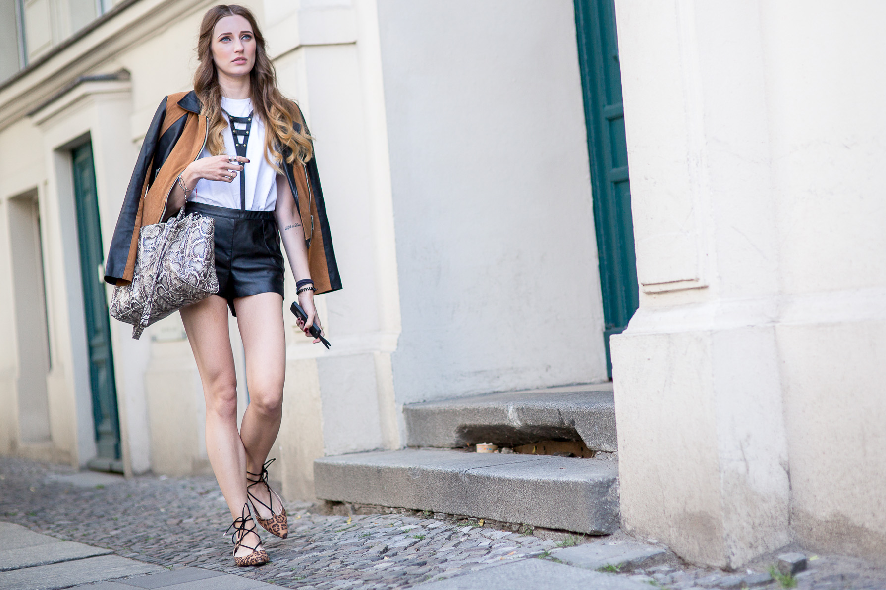Leather & Leopard Streetstyle | Lisa Fiege | Cologne/Köln