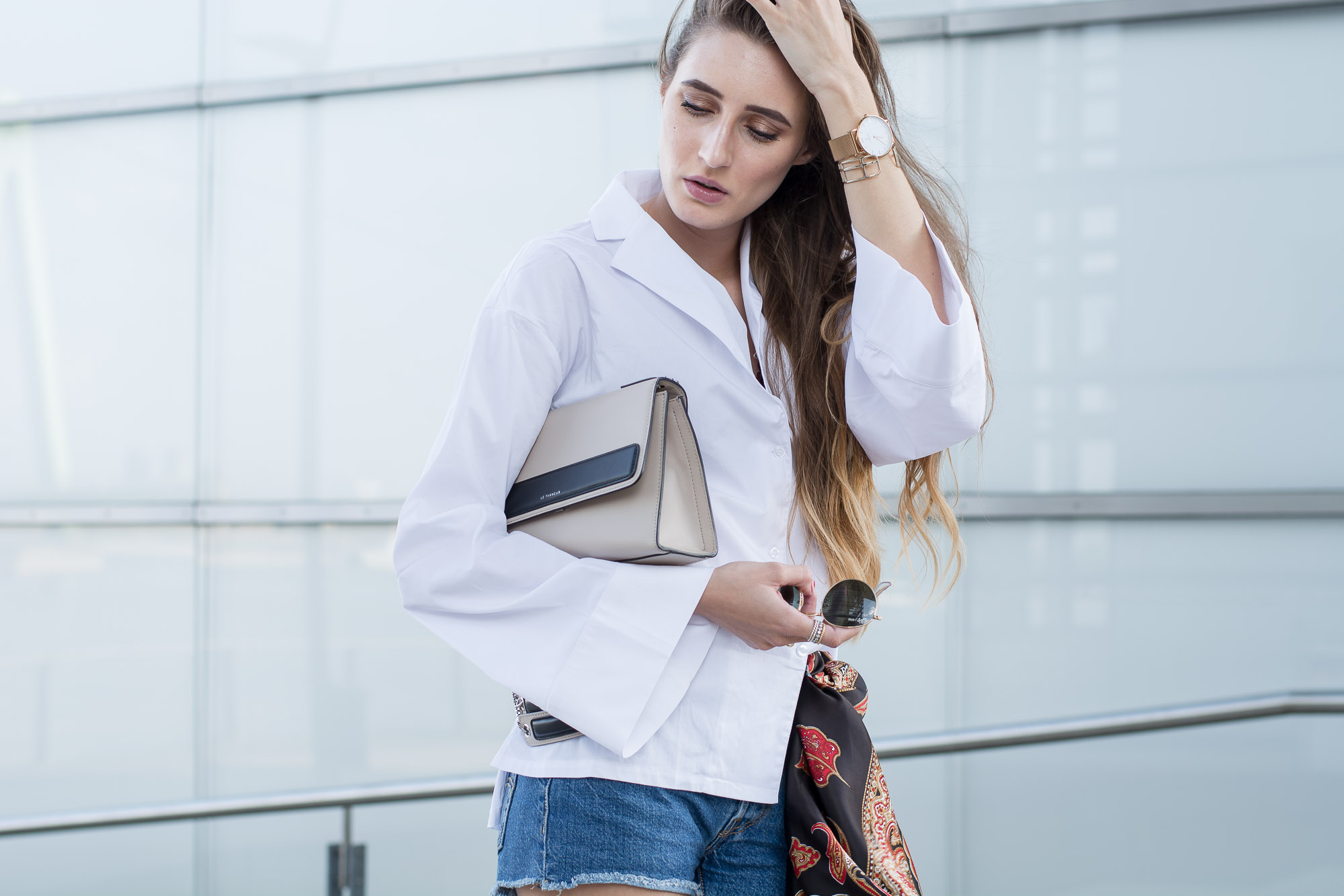 Buffalo Ankle Boots & Wide Sleeved Blouse| Lisa Fiege