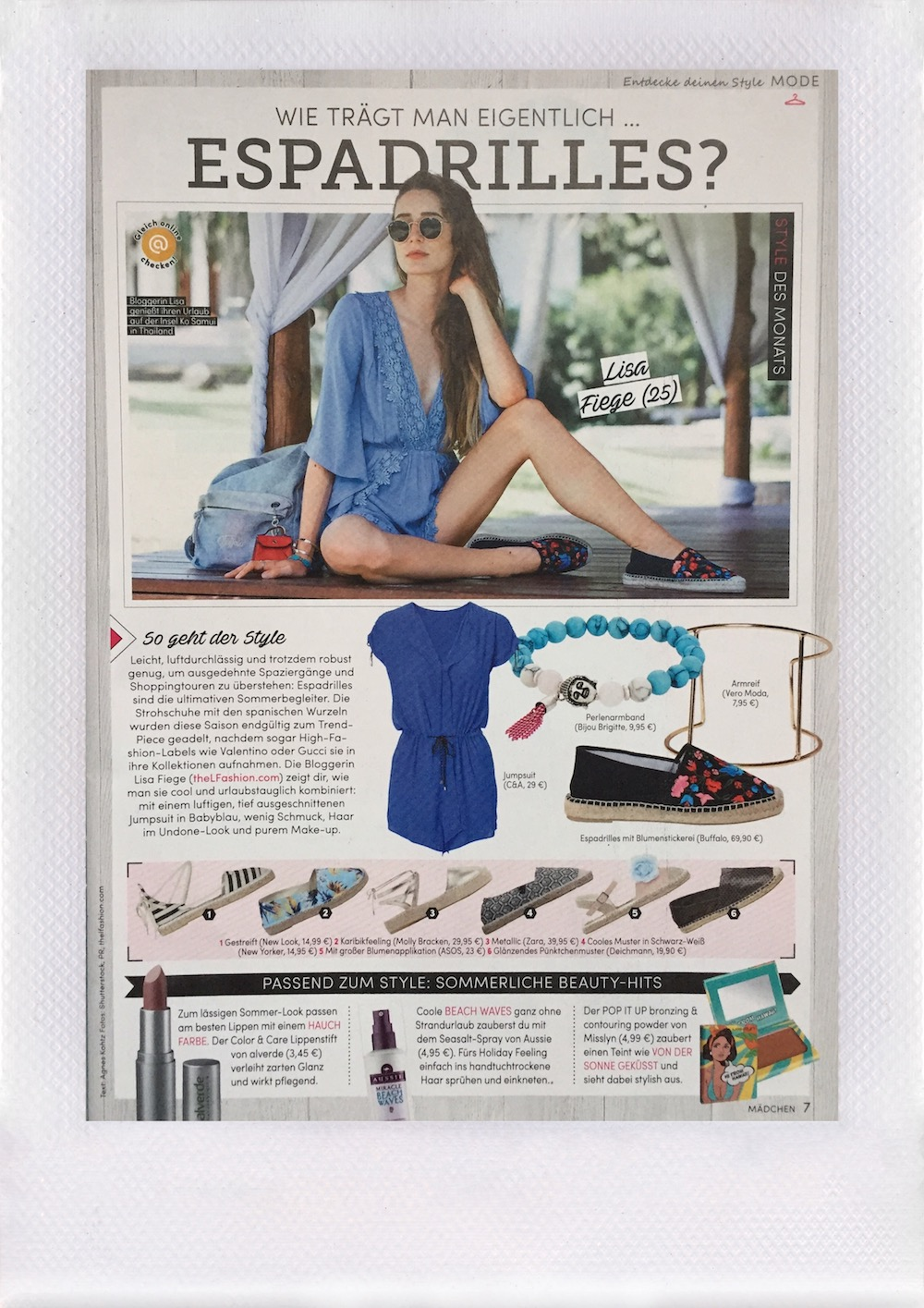 Mädchen Ausgabe August 2016   Lisa Fiege