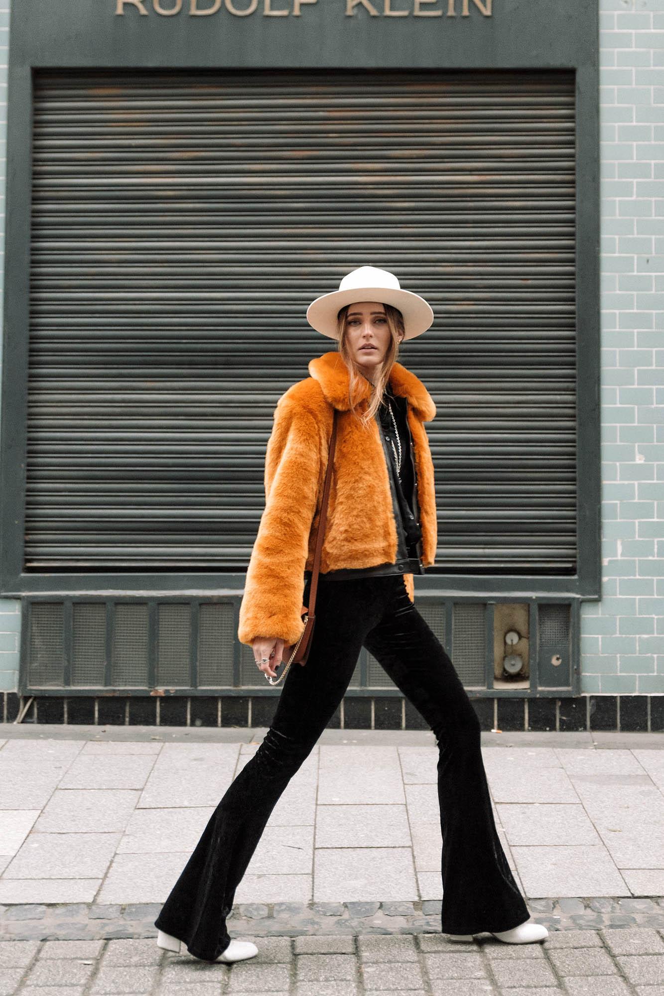 Flared Pants & Faux Fur   Lisa Fiege