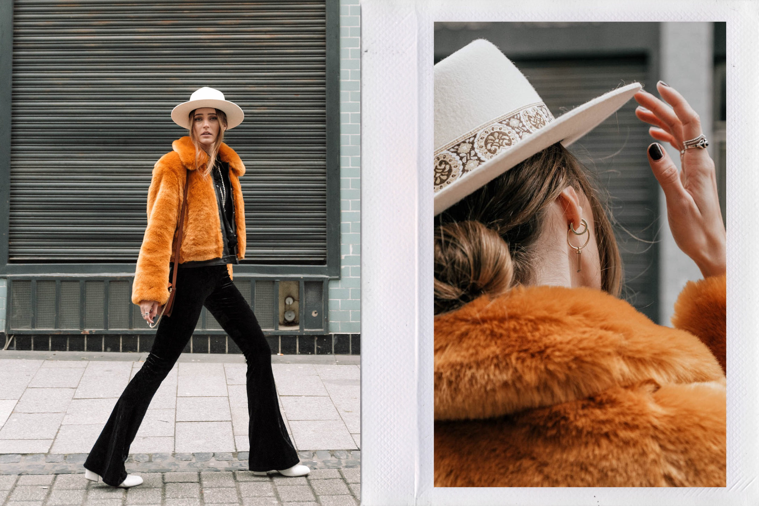 Flared Pants & Faux Fur | Lisa Fiege