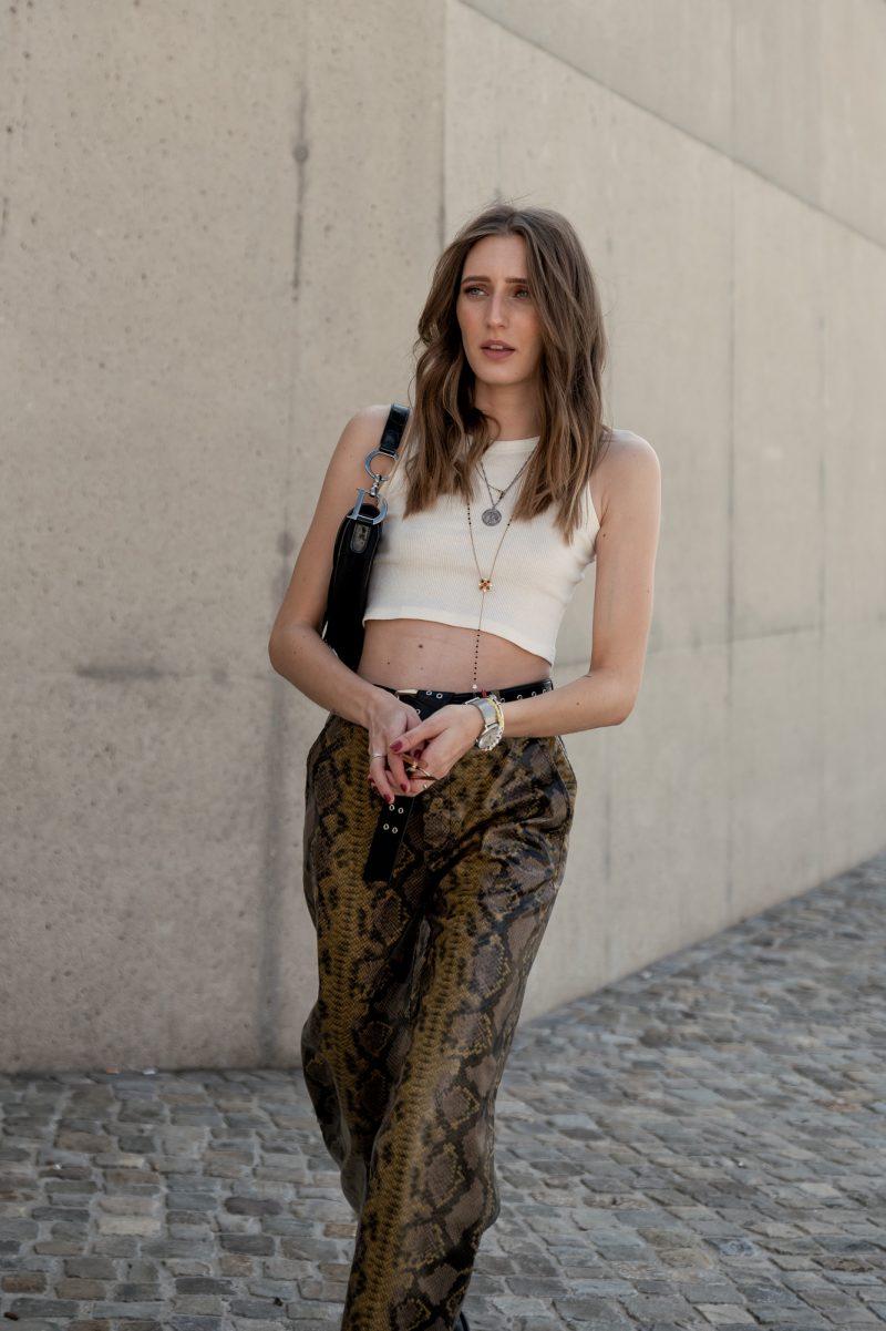Snake Print Pants | Lisa Fiege