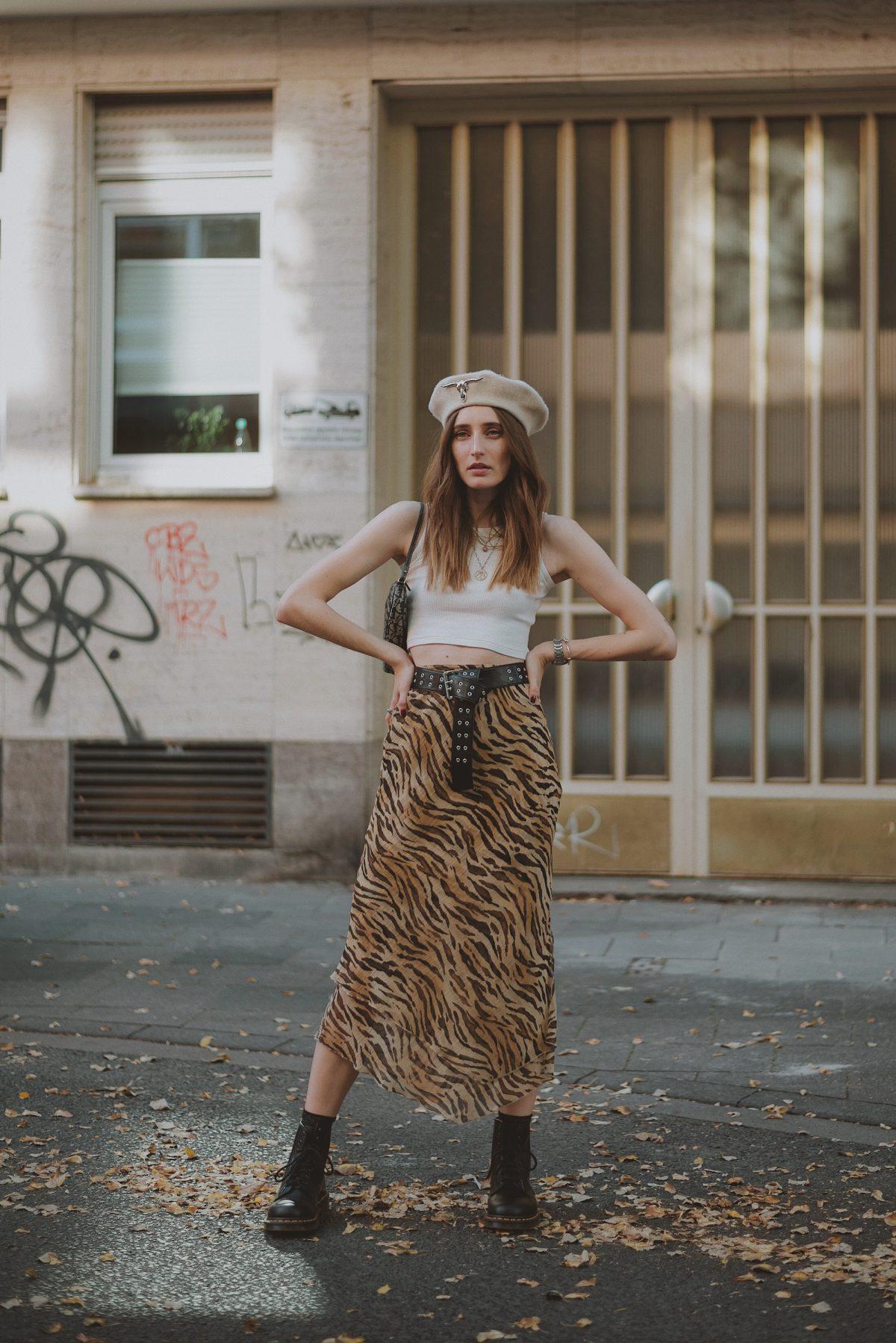 Tiger Midi Skirt   Lisa Fiege